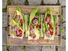 Tacos på Anamma vegoschnitzel