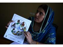 Pakistan ett år efter katastrofen: Hygienutbildare Asia Manzoor