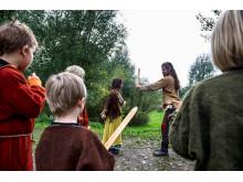 Vikingekrigerskole på Moesgaard i påsken