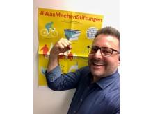 Carsten Frederik Buchert freut sich über die Resonanz auf seine Idee #WasMachenStiftungen
