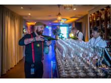 Champagne för att fira en 100-åring, Höstsol på Såstaholm Hotell och Konferens