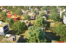 Trädhusstaden - vision om framtidens boende. Bild: Sweco