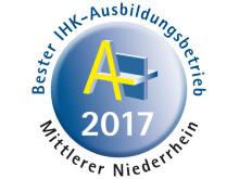 Bester IHK-Ausbildungsbetrieb 2017