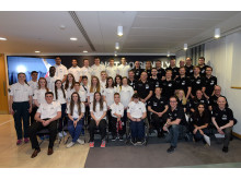 SportsAid athletes with their BNY Mellon and Newton buddies in London on 3 March 2015