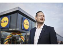 Udviklings- og ejendoms-direktør for Lidl, Mads T. Nielsen, ser frem til at opføre Lidls nye hovedkvarter ved Godsbanen i Aarhus.