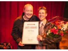 Nils Landgren tillsammans med vinnaren David Nilsson i Huddinge Music Challenge. Fotograf: Per Mikaelsson, Meritzo.