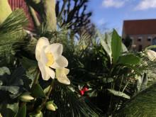 Juldekoration på Katrinetorp Landeri