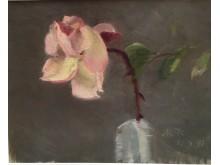 Marie Krøyer, rosa ros, Galleri Claes Moser, Grand Antiques.