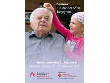 Plakat zum Welt-Alzheimertag 2019