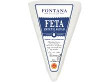 Triangelformad och ekfatslagrad fetaost