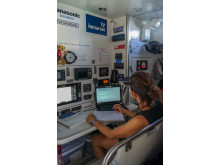 HI-res image - Inmarsat - The crew on-board Maiden are benefiting from reliable satellite communications provided by Connectivity Partner Inmarsat during their global tour