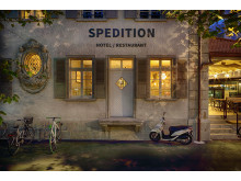 Facade at Spedition Hotel & Restaurant, Thun, Switzerland - design by Stylt.