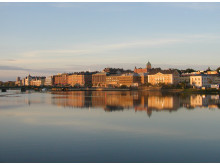 Nattviken i centrala Härnösand.