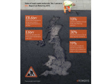 Report on Motoring 2015: Infographic on motorists' concern about local roads