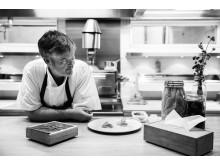 Mathias Dahlgren in Matsalens kitchen