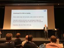 Digitalisér eller dø- det er ditt valg» var det klare budskapet VB-medlemmene fikk av foredragsholder Stig Hammer fra Markedspartner