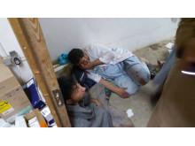 Chockad personal på Läkare Utan Gränsers traumasjukhus i Kunduz, Afghanistan