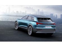 Audi e-tron quattro concept - static left side rear - electric green