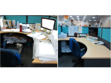 Before and after - editorial department desk