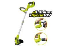 Ryobi One+ Lithim Hybrid batteri- och eldriven grästrimmer, RLT1830H13
