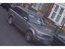 CCTV still of suspect vehicle