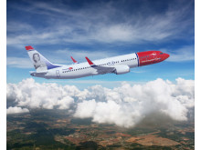 Boeing 737 MAX8 in Norwegian livery