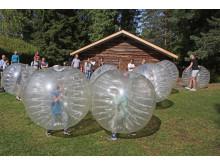 Boblefotball på Barnas sommerdag på Maihaugen