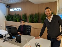 Community manager Faye Marhoo og country manager Thomas Weeden, Spaces.