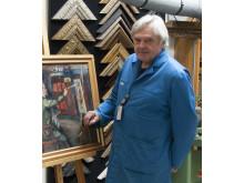 Bjørn Erik Kampen jobber som malerikonservator på Mai Maihaugen.