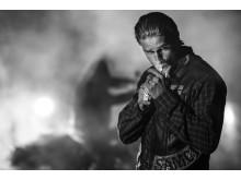 Charlie Hunnam som Jackson Jax Teller i sjunde säsongen av Sons of Anarchy.