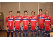 Morgendagens Helter landslaget  under sykkel-VM i Bergen