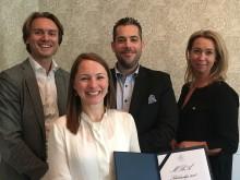 Årets MBA-vinnare tillsammans med juryn