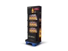 Chivas Regal Display zeigt edle Geschenkboxen