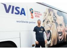Zlatan Ibrahimović w kampanii Visa