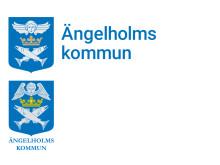 Jämförelse: Reviderad logotyp, överst. Nuvarande logotyp, nederst.