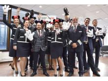 Norwegians crew på första flygningen mellan Stockholm och Orlando