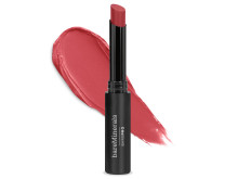 barePro Longwear Lipstick Geranium_SmearOverProduct