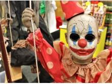 Prop animerad, karusell med clowner