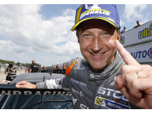 Robert Dahlgren vinner första STCC-tävlingen i Falkenberg