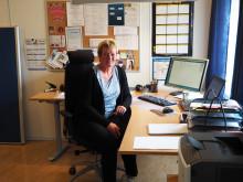 Greta på kontoret