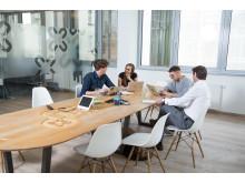 Konferenzräume laden zu gemeinsamen Besprechungen ein
