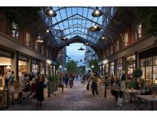 Matgränden i Haga Norra blir en ny typ av intim stadsmässig plats i Solna