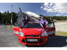 Knut Wilthil og Henrik Borchgrevink satte verdensrekord i økonomikjøring med Ford Focus med den prisbelønte 1.0-liter EcoBoostmotor
