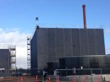 Rejsegilde på Sønderjysk Biogas feb. 2016 - kransen hejses