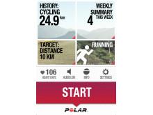 Produktbilder - Polar Beat, världens smartaste träningsapp