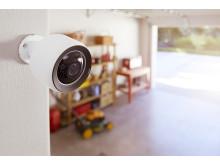 Utendørs overvåkningskamera i miljø
