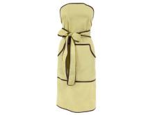 Grönt Partyförkläde med bruna kantband