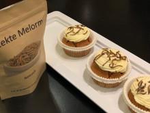 Gresskarmuffins med smørkrem og ristede melormer
