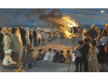 P. S. Krøyer: St. Hansblus på Skagens strand (1903)