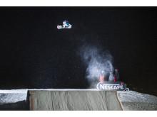 Marcus Kleveland vant Norgescup i Trysil og får dermed plass i X Games Oslo. Foto: Daniel Tengs / Snowboardforbundet